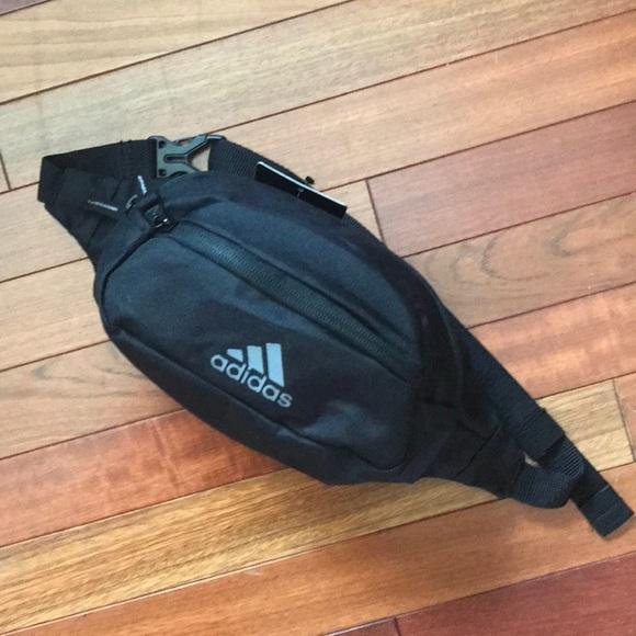 adidas Handbags - BNWT adidas Black Gray Waist Hip Bag Fanny Pack d1b56ebb31e76